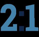 2-1 ratio